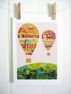 Hot Air Balloon Wall Art.