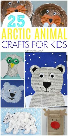 Arctic Animals CraftsArctic Animals Winter Animal Crafts for Preschoolers - Natural Beach Winter Animal Crafts for Preschoolers. 25 Easy and Fun Arctic Animal Crafts for Kidsarctic animal crafts for Animal Crafts For Kids, Winter Crafts For Kids, Animal Projects, Kids Crafts, Seal Crafts For Kids, Polar Animals Preschool Crafts, Preschool Winter, Kindergarten Winter Animals, Polar Bear Crafts