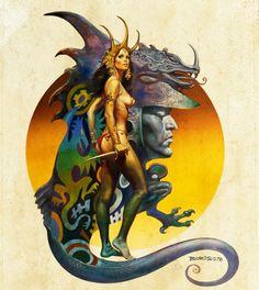 Boris Vallejo - Dragon maiden