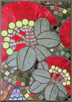 Olive's Pohutukawa Mosaic art