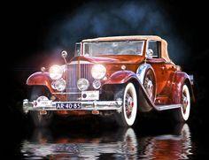 1932 Packard ....  Hot Rod Art by Rat Rod Studios, http://www.RatRodStudios.com