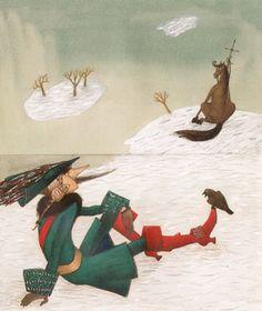"Svetlana Akateva illustration for ""Baron Munchausen"". Baron, Illustrators, Book Art, Fairy Tales, Book Illustrations, Abstract, Sketch, Painting, Animals"