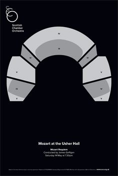 Mozart at the Usher Hall. Designed @TheLeith. More at http://cargocollective.com/designbymatt