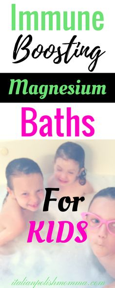 Looking for a way to boost your child's immune system this cold and flu season? Try this amazing immune boosting magnesium bath for kids! Immune boosting detox baths are a great way to help your child stay healthy and sleep better at night! You'll be amazed at how much they work!