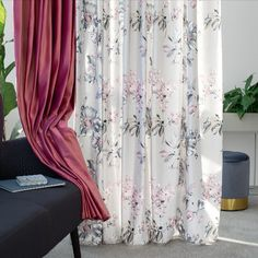 Get immersed in interior designs inspired by the Spring season! #pinkshades #floral #purple #delicate #pastel #pink Velvet Curtains, Sheer Curtains, Home Decor Inspiration, House Design, Interior Design, Winter Collection, Floral, Fabric, Autumn