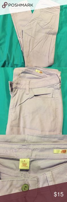 Arizona Super skinny jeans Purple super skinny Arizona jeans. A little More purple than what the pictures show. Size 9. Fit well. Arizona Jean Company Jeans Skinny