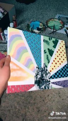 Canvas Painting Tutorials, Simple Canvas Paintings, Easy Canvas Art, Small Canvas Art, Cute Paintings, Mini Canvas Art, Diy Canvas, Diy Painting, Birthday Canvas