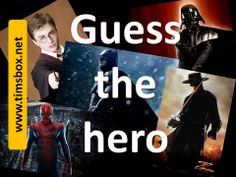 GUESS THE HERO-  5 audio clues + 1 picture to guess a hero ! - Free online ESL games-
