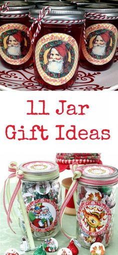 11 Jar Gift Ideas - The Graphics Fairy Christmas Neighbor, Neighbor Gifts, Christmas Makes, Christmas Candles, Diy Christmas Gifts, Christmas Holidays, Christmas Ideas, Christmas Goodies, Christmas Stuff