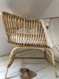 Beautiful rattan Crib with mattress Coated with water based Lacquer made in Vietnam Dimentions: cm Bassinet, Cribs, Storage, Furniture, White Space, Home Decor, Angels, Style, Beautiful