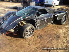 Pagani Zonda Roadster crashed in Watford