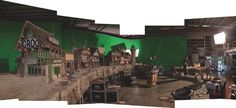 On the set of The Pirates! at Aardman Animations