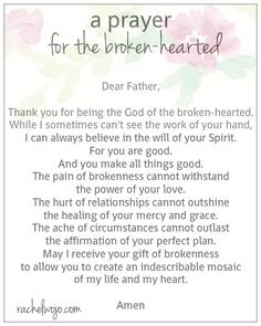 A Prayer for the Broken-Hearted