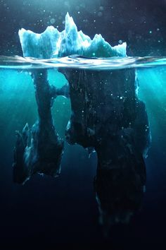 """Iceberg Illustrations by """"Chaotic Atmospheres"""""""