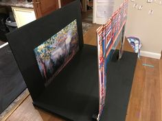 Next term history, Broadway- lights camera action. So make way volcano, here comes a model stage theatre. #display #Broadway #model #school