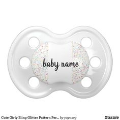 Cute Girly Bling Glitter Pattern Personalized Name