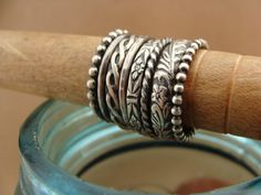 Sweet & Simple Oxidized Sterling Silver Stack Rings--Set of 8 by luckstruck on Etsy $74