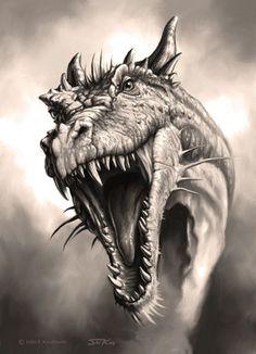 Эскиз головы дракона