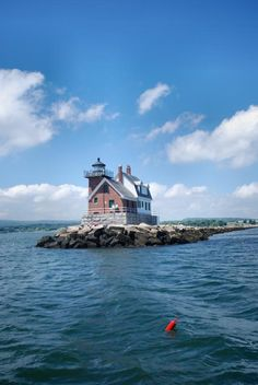 Rockland Lighthouse, as seen on the ferry trip out to Vinalhaven