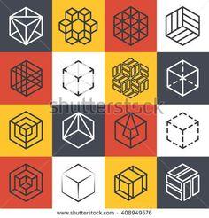 Architecture and interior studios or construction company line logo templates…