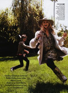 This is George Harrison's son and a model Sasha Pivovarova in a photoshoot dressed up as George Harrison and Pattie Boyd