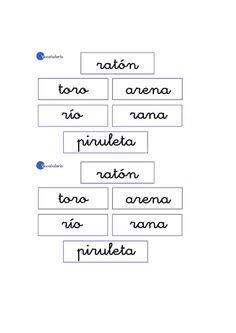 Lernübungen für kinder zu drucken. Vokabular Spanisch zu lernen 19