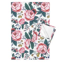Orpington Tea Towels featuring Floral by emilyhampton | Roostery Home Decor