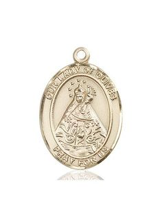 Gold Our Lady of Olives Medal. Medal is in height. Catholic Store, Our Lady, Pocket Watch, Chain, Olives, Gold, Gifts, Accessories, Products
