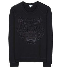 KENZO Embroidered Mesh And Cotton Sweatshirt. #kenzo #cloth #shirt