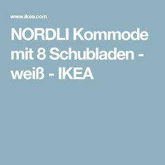NORDLI Kommode mit 8 Schubladen - weiß  - IKEA