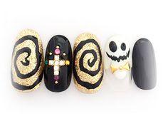 グルグル~ハロウィンネイル 【ネイルサロン シルシオン 二子玉川店】 http://nail-beautynavi.woman.excite.co.jp/design/detail/16703?pint ≪ #nail #nails #nailart #softgel #Halloween #秋ネイル #ネイル #ハロウィン #ハロウィンネイル #Halloweennails #art #ideas #design ≫
