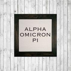 CANVAS ART | Alpha Omicron Pi - Block