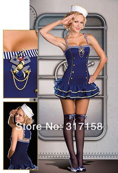 Makin' a Splash, Dreamgirl, Sexy Costumes Military Costumes For Women, Fancy Dress Costumes For Women, Military Women, Fairy Halloween Costumes, Halloween Kostüm, Halloween Outfits, Sailor Halloween, Pokemon Halloween, Women Halloween
