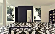 Mosaic Tile Pattern- Seed Of Life - Floor Insert Mosaic Art - Mosaic Floor Design - Mosaic Art In Home Decor   #Mozaico