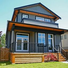 Houses With Black Trim Gorgeous Of Grey House With Black Trim Facade Pinterest Grey Houses