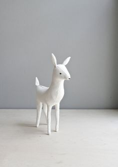 ghost of a deer / soft sculpture animal. via Etsy.//cuuuute
