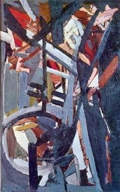 Nicolas de Staël: 'Composition, 1947, oil on canvas'