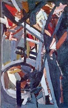 Nicolas de Staël: 'Composition, 1947, oil on canvas'