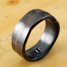 6mm Copper Ring - Architectural Ring - Copper Ring - Wide Ring Band - Textured Band - Wedding Band - For Man, Woman & Child! on Etsy, $38.98