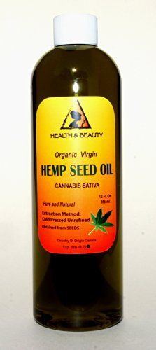 Hemp Seed Oil Unrefined Organic Virgin Carrier Cold Pressed Pure 24 oz //Price: $26.99 & FREE Shipping //     #hashtag2