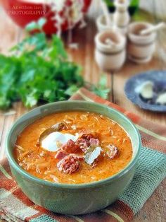 Korhely Soup - Korhelyleves - Az otthon ízei Soup Recipes, Cooking Recipes, Hungarian Recipes, Food 52, Soup And Salad, Soups And Stews, Food Styling, Food And Drink, Healthy Eating