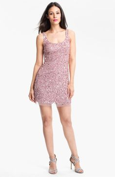 Adrianna Papell Sequin Mesh Minidress available at #Nordstrom $198