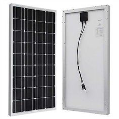 High in power but sleek in size, this 100-Watt Solar Panel Great for 12-Volt Battery Charging RV Camping Off-Grid is the perfect item for off-grid application. Use it for your RV when camping or beach