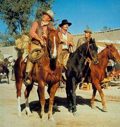 John  Wayne, Patrick  Wayne, and  Chris  Mitchum  in  Big  Jake  (1971).