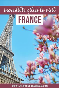 Are you looking for the best cities to visit in France beside Paris? Here's the ultimate list about the most beautiful cities in France you can't miss! | France travel tips | France travel guide | Best cities in France | Prettiest cities in France | Top cities in France | Best places to visit in France | What to see in France | Travel in France | French cities | Best cities in South of France | France vacation guide | List of France cities | Paris | Nice | Bordeaux | Marseille | Lyon…