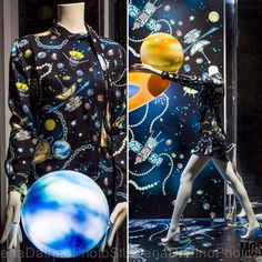 "ABC Mannequins displayed @love.moschino_ Special Windows ""Planets"" for Coin_ Milano. Photo by @elenadatrino #fashion #moschino #moschinobyjeremyscott #jeremyscott #mannequin #shopwindows #windowsdisplay #visualmerchandising #visualdisplay #escaparates #coin"