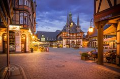 Wernigerode Marketplace - Marketplace and Townhall of Wernigerode, Germany.