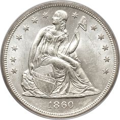 1860-O $1 MS63 PCGS. CAC