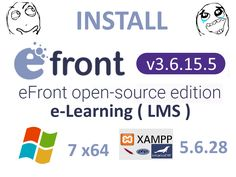 Install eFrontLMS v3.6.15.5 on Windows 7 x64 localhost XAMPP 5.6.28 - opensource PHP LMS eLearning