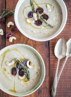 Garlic, cashew and parsnip soup